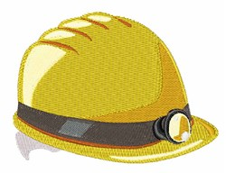 Construction Helmet embroidery design