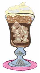 Ice Coffee embroidery design