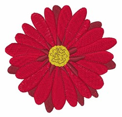 Red Flower Bloom embroidery design