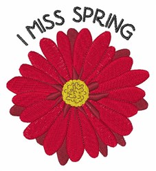I Miss Spring embroidery design