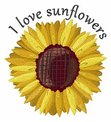 Love Sunflowers embroidery design