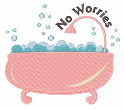 No Worries embroidery design