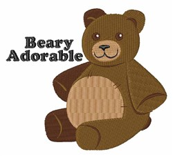 Beary Adorable embroidery design