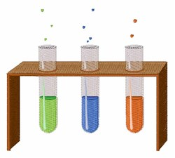 Test Tubes embroidery design