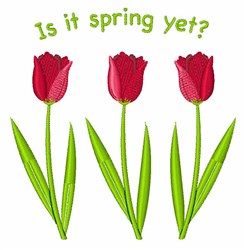Is It Spring embroidery design