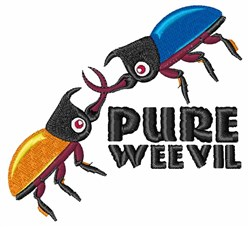 Pure Weevil embroidery design