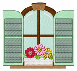 Flower Windowbox embroidery design