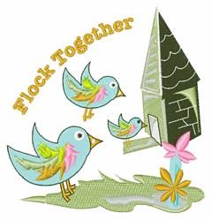 Flock Together embroidery design