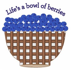 Bowl Of Berries embroidery design