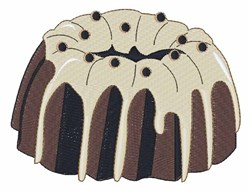 Bundt Cake embroidery design