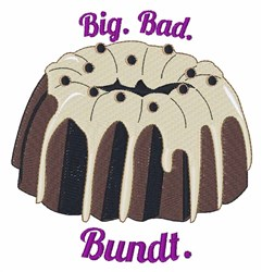 Big Bad Bundt embroidery design