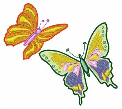 Colored Butterflies embroidery design