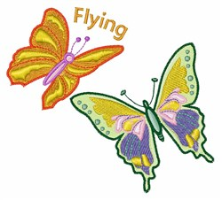 Flying Butterflies embroidery design
