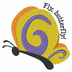 Fly Butterfly embroidery design