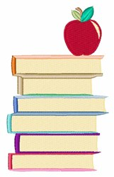 Apple On Books embroidery design