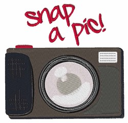 Snap A Pic embroidery design