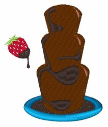 Chocolate Fountain embroidery design
