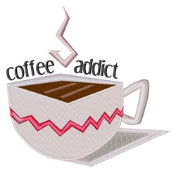 Coffee Addict embroidery design