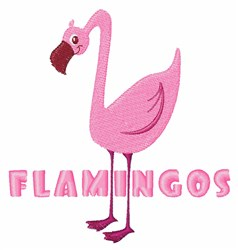 Flamingos embroidery design