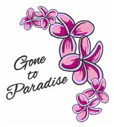 Gone To Paradise embroidery design