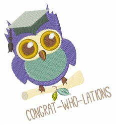 Congrat-Who-Lations embroidery design