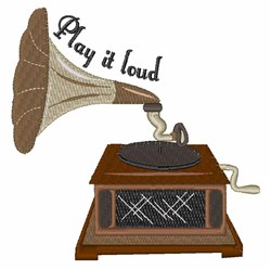 Play It Loud embroidery design