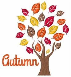 Autumn Tree embroidery design