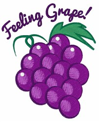 Feeling Grape embroidery design