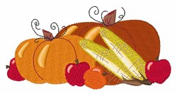 Fall Food embroidery design