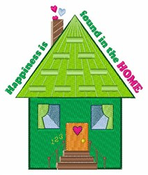 Happiness In Home embroidery design