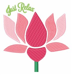 Just Relax embroidery design