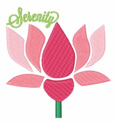 Serenity embroidery design