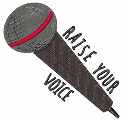 Raise Your Voice embroidery design