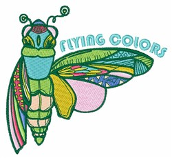 Flying Colors embroidery design