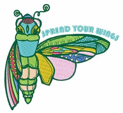 Spread Your Wings embroidery design