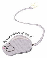 Mouse At Work embroidery design