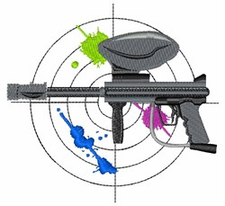 Paintball Gun embroidery design
