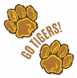 Go Tigers embroidery design