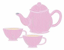 Tea Set embroidery design