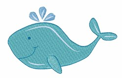 Cute Whale embroidery design