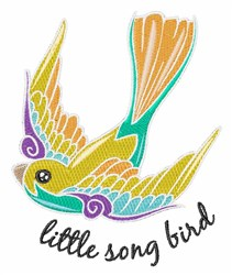 Song Bird embroidery design