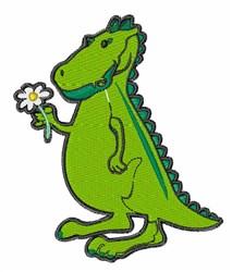 Love Dinosaur embroidery design