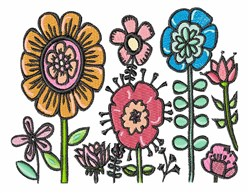 Field Of Flowers embroidery design
