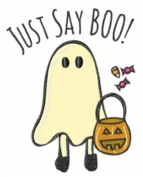 Just Say Boo embroidery design