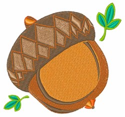 Acorn Nut embroidery design