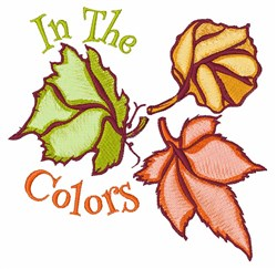 In The Colors embroidery design
