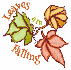 Leaves Are Falling embroidery design