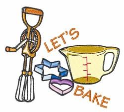 Lets Bake embroidery design