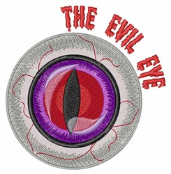 The Evil Eye embroidery design