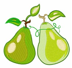 Two Pears embroidery design